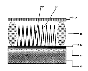 SUPERFICIAL DEVICE FOR EMITTING ELECTRONS FROM AN ARRANGEMENT OF SILICON CARBIDE BARRIERS.