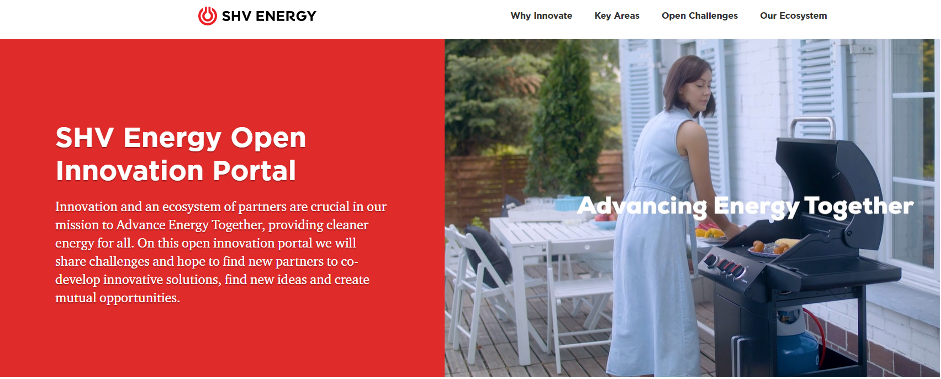 SHV Energy Launches New Open Innovation Portal
