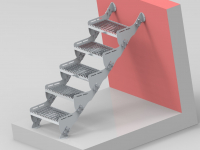 Metal staircases for home and industrial purposes